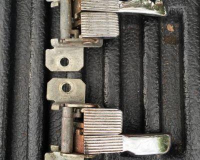 Chrome door handle release pair