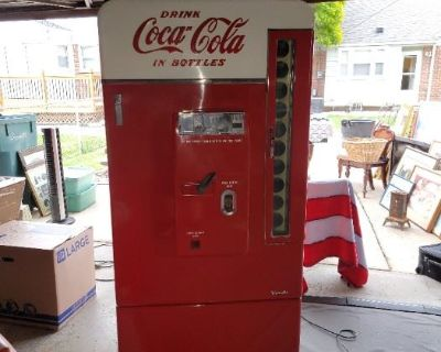 Coca Cola Vending Pinball Machine Pabst Neon