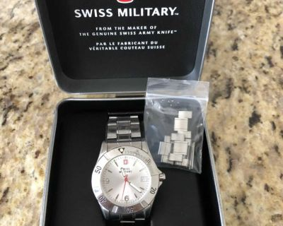 Men s Swiss Military Stainless Steel Watch