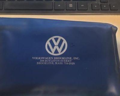 Volkswagen Brookline Inc. blue manual folder