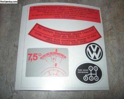 Sticker Set Decals Restoration Air Filter Shifter