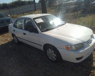 Salvage White 2002 Toyota Corolla