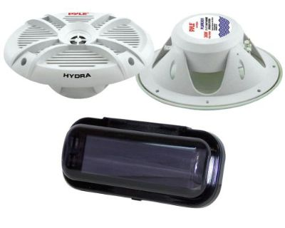 "Pyle Marine Stereo Plmrx69 6"" X 9"" Speakers Custom Grills Radio Shield Gasket"