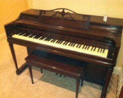 $500 Piano - Wurlitzer Mahogany Upright and bench