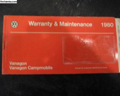Vanagon Warranty Booklet