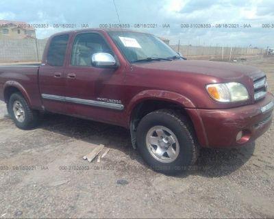 Salvage Red 2003 Toyota Tundra