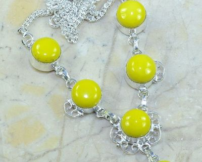 """New - Yellow Agate 19"""" Necklace"""