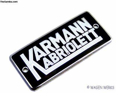 Karmann Badge - Bug Convertible 1950 to 1960