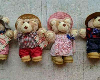 Set of 4 WENDY'S collectible Bears