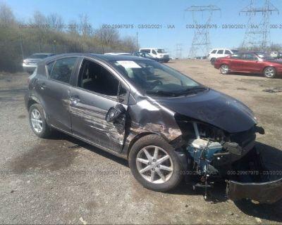 Salvage Gray 2014 Toyota Prius C