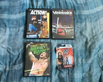 Lot Of WWE DVDs And Figure