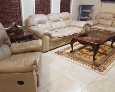 Living room leathers sofa sets with recline