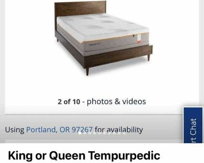 Special dealz on king or queen Tempurpedic and other types of mattresses-same day delivery