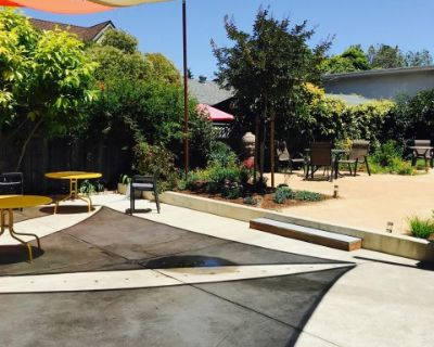 Gorgeous, spacious, outdoor patio - perfect for yoga classes, workshops, receptions, Berkeley, CA