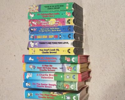 Peanuts VHS collection