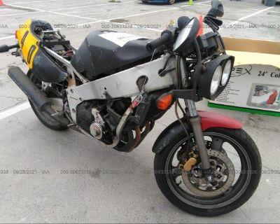 Salvage Yellow 1990 Yamaha Fzr400