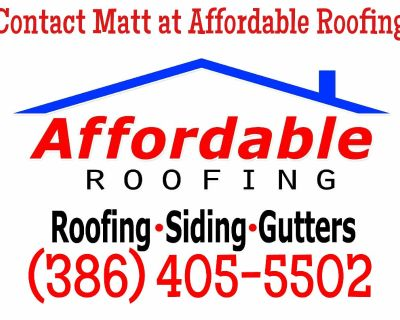 Affordable roofing serving all of central Florida! Licensed free estimates storm damage and more!