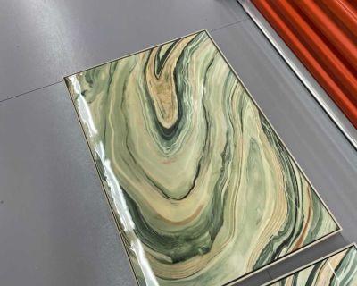 Framed Geode High Gloss Marble Art Canvas