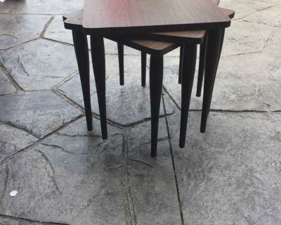 1970s Stacking Tables Set of 3