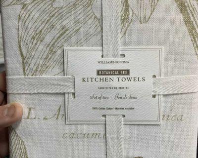 Bee Kitchen Towels (set Of 2)