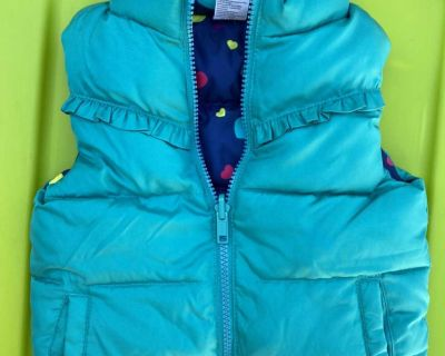 18M Dark Teal Vest - Reversible with Hearts