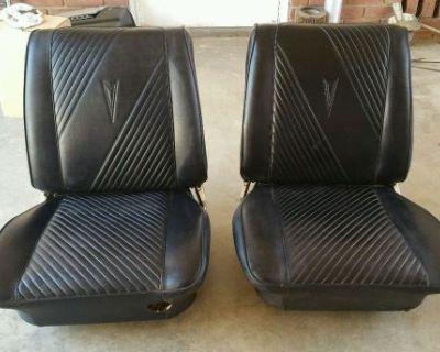 64 65 Gto Original Bucket Seats Chevelle Skylark Cutlass 66 67 68 Black Interior