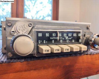 Sapphire II AM/FM 6V Grey Radio - Restored