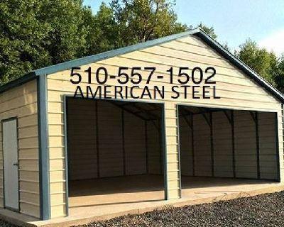 AMERICAN STEEL ALL METAL GARAGES SHOPS RV BOAT & CARPORTS
