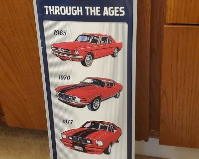 Ford MUSTANG SIGN NEW
