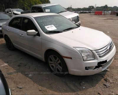 Salvage White 2006 Ford Fusion