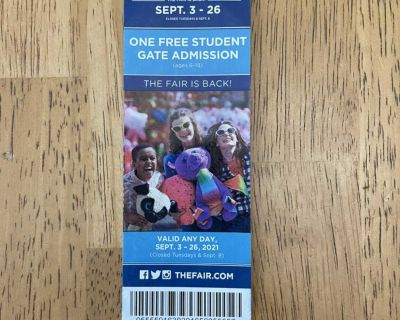 State Fair Student Ticket - FREE