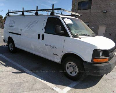Salvage White 2006 Chevrolet Express Cargo Van