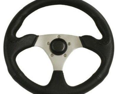 "Rampage Polaris Ranger & Rzr 3 Spoke 14"" Steering Wheel With Polished Adapter"