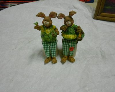 Clay Rabbits For Sitting On Top of Shelf or Something