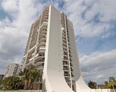 Impeccable large condo with completely beautiful porcelain tiles on the 8th floor with 2 private balconies overlooking the new Jack Nicklaus Signature golf!! By Highlight Realty