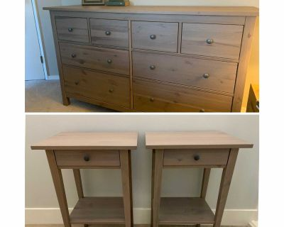 IKEA Hemnes dresser and matching side tables