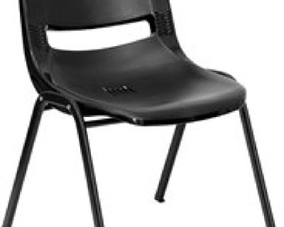 Black Stacking Chair at Chair and Table Factory