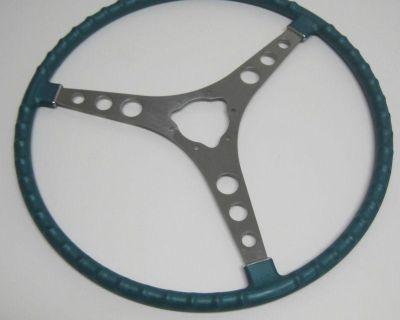 1958 Thru 1962 Corvette Steering Wheel Blue Turquoise New