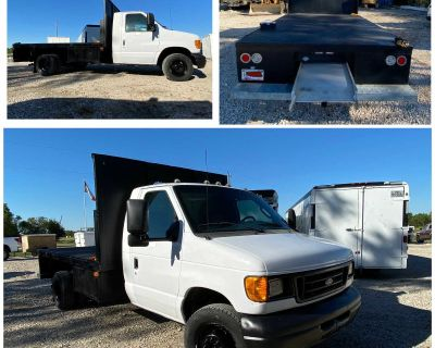 By Owner- 2006 Ford E450 Only 126,222 Original Miles with (Heavy duty) 14 foot Flatbed, pullout Ramp, gooseneck hitch & Towing Package