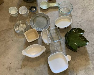 Misc small plates, bowls and small containers