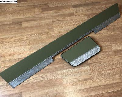 Soft green snowflake seat kick panel set PG/SG