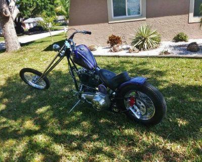 """1969 Harley """"Old School"""" Chopper Motorcycle"""
