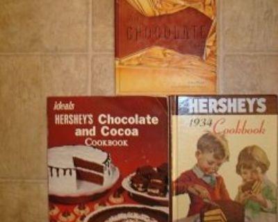 HERSHEYS CHOCOLATE ~ 3 Rare Hard Cover Books !