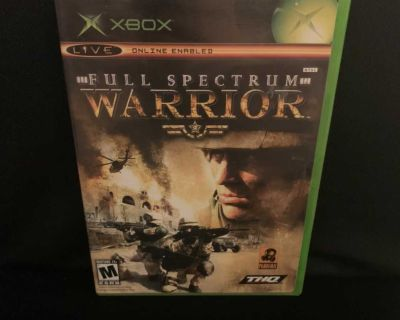 Full Spectrum Warrior Microsoft Xbox Video Game Complete Tested