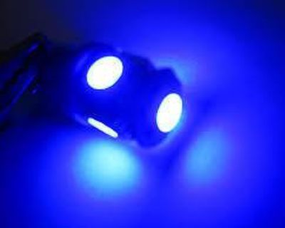 50x 5-smd Ba9s Led Light Bulbs Wedge Ultra Blue 8000k 5050 W6w T4w Power 6253