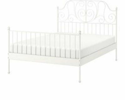 Ikea Queen size bed frame with slates