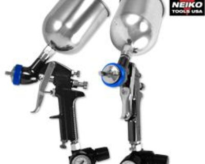1.3mm Hvlp Gravity Feed Spray Gun Air Painting Coat Pro Compressor Shop Tools