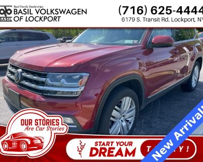 Certified Pre-Owned 2019 Volkswagen Atlas SEL Premium With Navigation & AWD