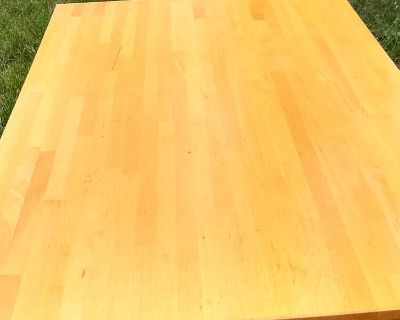 Solid table - butcher block style