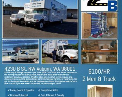 A2B Moving & Storage, LLC  (Seattle WA)